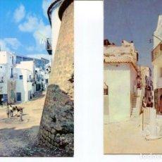 Postales: LOTE 2 POSTALES-IBIZA-CALLES TÍPICAS-- AÑOS 1960-70. Lote 217588471