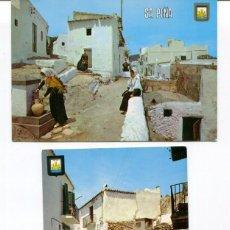 Postales: LOTE 2 POSTALES-IBIZA-CALLES TÍPICAS-- AÑOS 1960-70. Lote 217588502