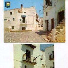 Postales: LOTE 2 POSTALES-IBIZA-CALLES TÍPICAS-- AÑOS 1960-70. Lote 217589083