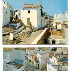 Postales: LOTE 2 POSTALES-IBIZA-CALLES TÍPICAS-- AÑOS 1960-70. Lote 217589131