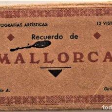 Postales: BLOG RECUERDO DE MALLORCA - 12 VISTAS - SERIE A - GUILERA. Lote 217593021