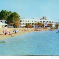Postales: IBIZA-PLAYA Y HOTEL SES SAVINES -SANT ANTONIO- AÑO 1960. Lote 218691633