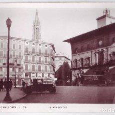 Postales: PALMA DE MALLORCA: PLAZA DE CORT. NO CONSTA EDITOR. NO CIRCULADA (AÑOS 30). Lote 218998381