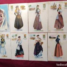 Postales: LOTE 8 POSTALES: TRAJES TÍPICOS DE GRAN CANARIA. BALONGA CASSAR. Lote 219308847