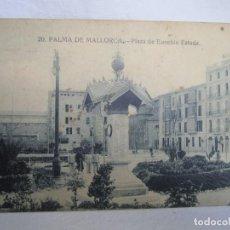 Postales: 91-PLAZA DE EUSEBIO ESTADA, POSTAL PALMA ANTIGUA, SIN CIRCULAR. Lote 219914913