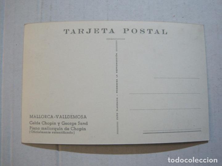 Postales: MALLORCA-VALLDEMOSA-CELDA CHOPIN Y GEORGE SAND-FOTO PLASENCIA-POSTAL ANTIGUA-(74.746) - Foto 3 - 221138071