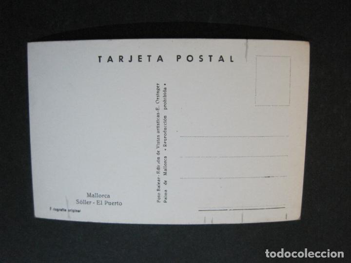Postales: MALLORCA-SOLLER-EL PUERTO-FOTO BALEAR-FOTOGRAFICA-POSTAL ANTIGUA-(74.751) - Foto 2 - 221139383
