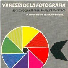 Postales: POSTAL VII FIESTA DE LA FOTOGRAFIA PALMA DE MALLORCA 1967 FOTO TURISTICA MOLINO. Lote 221575313