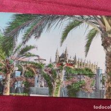 Postales: TARJETA POSTAL. 2073. MALLORCA. PALMA. CATEDRAL DESDE PASEO SAGRERA. Lote 221730360