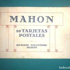 Postales: BLOC DE 10 POSTALES DE MAHÓN REMIGIO ALEJANDRE FOTOTIPIA HAUSER Y MENET. Lote 222273358