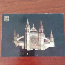 Postales: POSTAL PALMA. MALLORCA. LA CATEDRAL. NOCTURNA.. Lote 222328758