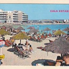 Postales: POSTAL PLAYA. CALA ESTANCIA. MALLORCA (1970) - PAPELERA DE PEPSI COLA. Lote 222395127