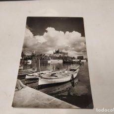 Postales: MALLORCA - POSTAL PALMA - LA CATEDRAL Y LA LONJA DESDE ES MOLLET. Lote 222814066
