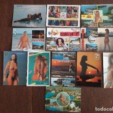 Postales: LOTE DE 12 POSTALES DE BALEARES CON CHICAS, AÑOS 80-90. Lote 276080138