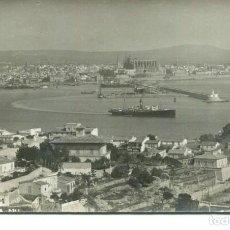 Postales: PALMA DE MALLORCA-VISTA PARCIAL Y PUERTO-FOTOGRÁFICA AÑO 1920- MUY RARA. Lote 224372566