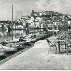 Postales: IBIZA-VISTA PARCIAL DE LA CIUDAD DESDE EL CLUB NÁUTICO-AÑO 1960. Lote 224726413