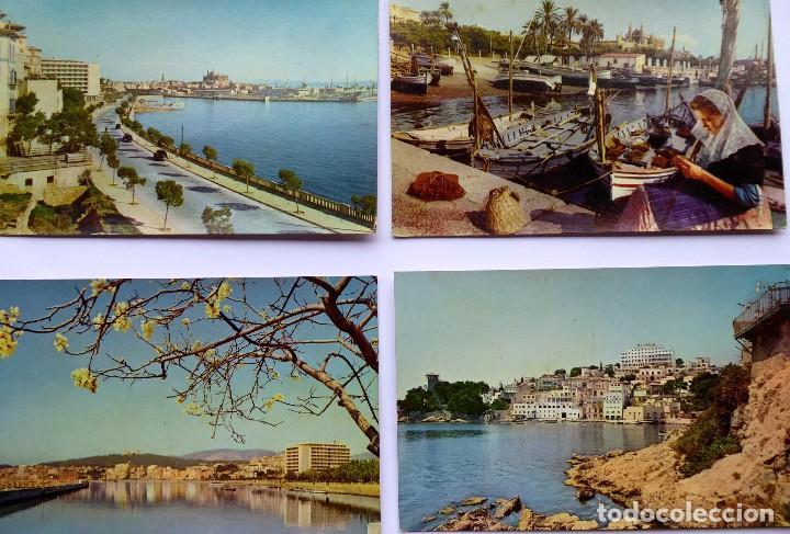 P- 11886. MALLORCA. 4 POSTALES COLOR AÑOS 60. NEVCOLOR. NO CIRCULADAS. VER FOTOS. (Postales - España - Baleares Moderna (desde 1.940))