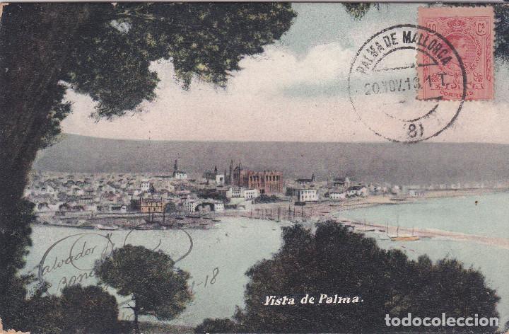 VISTA - PALMA DE MALLORCA (ISLAS BALEARES) - SALVADOR J. BONASTRO GANUZA (Postales - España - Baleares Antigua (hasta 1939))