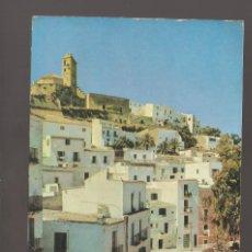 Postales: 1 POSTAL DE IBIZA LA CATEDRAL Y LA CIUDAD ALTA 1953. Lote 226809121
