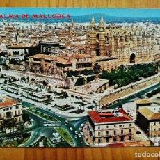 Postales: POSTAL - PALMA DE MALLORCA - CATEDRAL - PALACIO ALMUDAINA - JARDINES DEL HUERTO DEL REY.. Lote 227740365