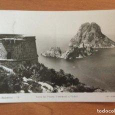 Postales: POSTAL. TORRE DEL PIRATA, VEDRANELL Y VEDRÁ. IBIZA. Lote 228028536