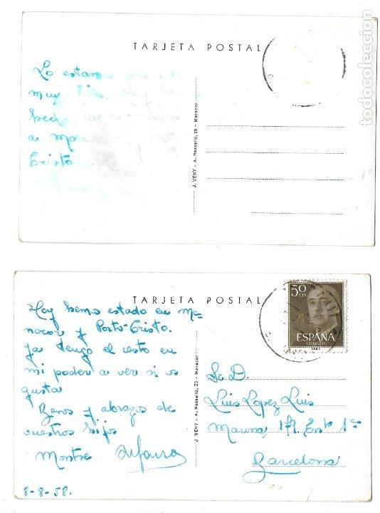 Postales: P-12016. PAREJA DE POSTALES PORTO CRISTO, MALLORCA. MEDIADOS S.XX. - Foto 2 - 228392430