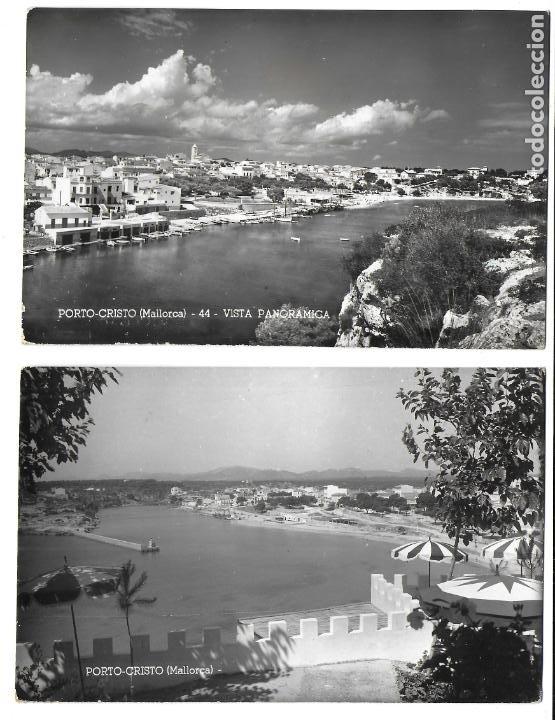 P-12016. PAREJA DE POSTALES PORTO CRISTO, MALLORCA. MEDIADOS S.XX. (Postales - España - Baleares Moderna (desde 1.940))