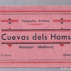 Postales: 4412- MANACOR (CUEVAS DELS HAMS). -BLOC COMPLETO CON 10 POSTALES ANTIGUAS -FOTO- GILERA. Lote 229740060