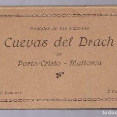 Postales: 4412- MALLORCA (CUEVAS DEL DRACH ). -BLOC COMPLETO CON 20 POSTALES ANTIGUAS -HUECOGRABADO- MUMBRU. Lote 229742470