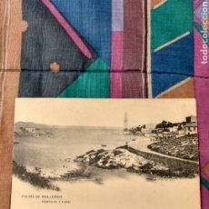 Postales: PALMA MALLORCA PORTO PI Y FARO HAUSER Y MENET MADRID. Lote 230265600