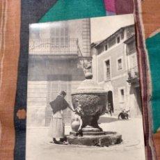Postales: POLLENSA PLAZA LA ALMOINA MALLORCA. Lote 230268065
