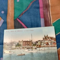 Postales: PALMA MALLORCA VISTA LA LONJA Y CATEDRAL. Lote 230280190