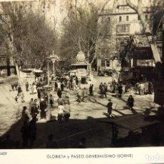 Postales: P-12062. PALMA DE MALLORCA. GLORIETA Y PASEO GENERALÍSIMO (BORNE). FOTO ZERKOWITZ. NO CIRCULADA.. Lote 230454920