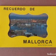 Postales: LIBRITO 36 FOTOS COLOR. TAMAÑO POSTAL. NUM. 1. RECUERDO DE MALLORCA. FOTOPERATOR. 1977.. Lote 231869145