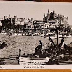Postales: LONJA Y CATEDRAL PALMA DE MALLORCA 1954. Lote 231881605
