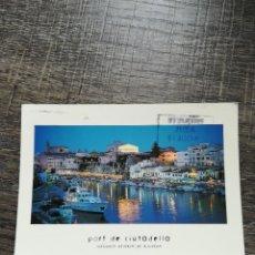 Postales: POSTAL MENORCA PORT DE CIUTADELLA. Lote 233666910