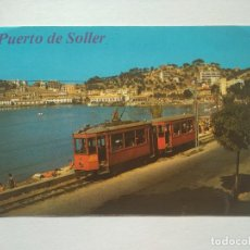 Postales: POSTAL PUERTO DE SOLLER - MALLORCA - IMAGEN TRAMVIA TRANVIA. Lote 233943545