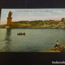 Postales: PALMA DE MALLORCA PORTO PI TORRE DE SEÑALES Y FARO. Lote 234319385