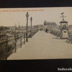 Postales: PALMA DE MALLORCA NUEVO PASEO DE LA RIBA MUELLE. Lote 234321710