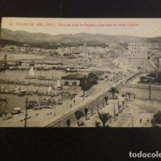 Postales: `PALMA DE MALLORCA VISTA DEL CLUB DE REGATAS Y BARRIADA DE SANTA CATALINA. Lote 234323210