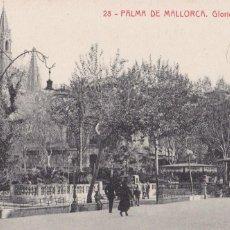 Postales: PALMA DE MALLORCA, GLORIETA DE LA REINA. ED. FOTOTIPIA THOMAS Nº 28. SIN CIRCULAR. Lote 235149875