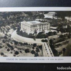 Postales: PALMA DE MALLORCA COLEGIO DEL SAGRADO CORAZON A VISTA DE PAJARO. Lote 236089275