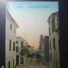 Postales: MAHON MENORCA CALLE COS DE GRACIA. Lote 236089530