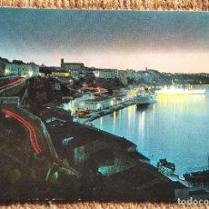 Postales: MAHON - MENORCA - PUERTO DE NOCHE. Lote 236118315