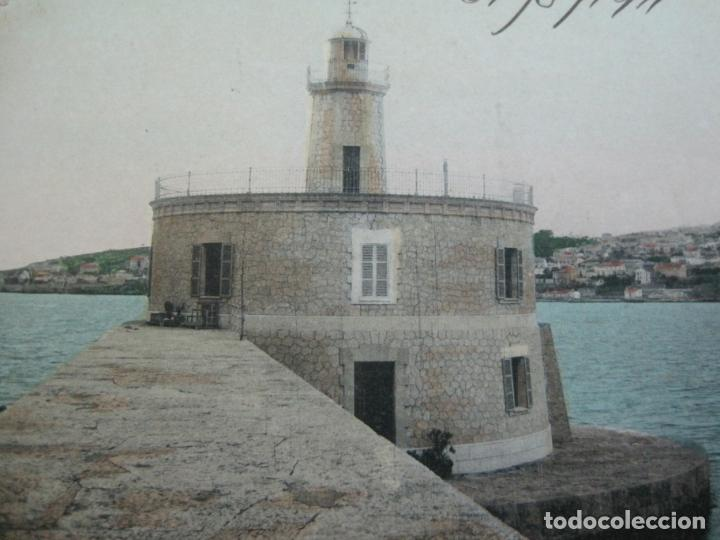 Postales: PALMA DE MALLORCA-FARO A LA ENTRADA DEL PUERTO-J.V. 10-POSTAL ANTIGUA-(77.012) - Foto 3 - 236446530