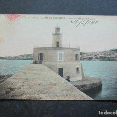 Postales: PALMA DE MALLORCA-FARO A LA ENTRADA DEL PUERTO-J.V. 10-POSTAL ANTIGUA-(77.012). Lote 236446530