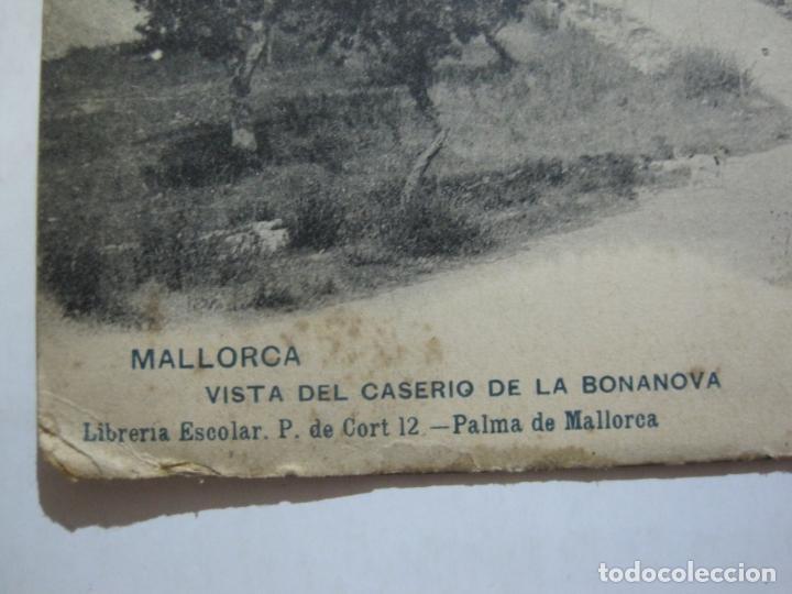Postales: MALLORCA-VISTA DEL CASERIO DE LA BONANOVA-REVERSO SIN DIVIDIR-HAUSER Y MENET-POSTAL ANTIGUA-(77.013) - Foto 2 - 236446620