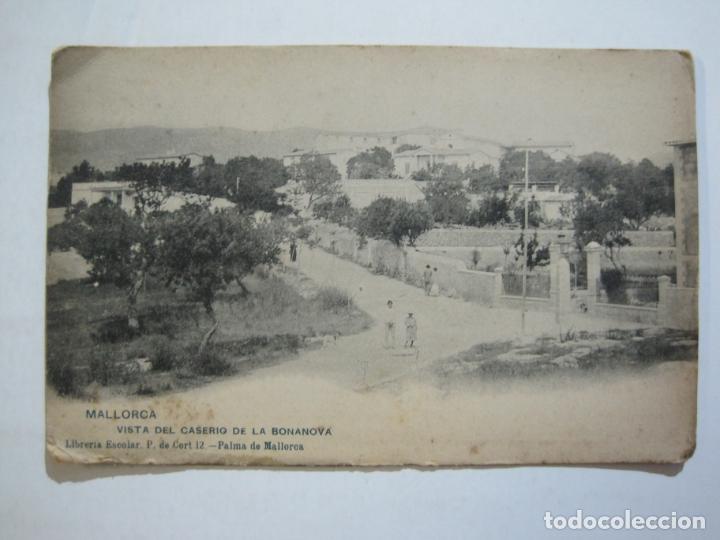 MALLORCA-VISTA DEL CASERIO DE LA BONANOVA-REVERSO SIN DIVIDIR-HAUSER Y MENET-POSTAL ANTIGUA-(77.013) (Postales - España - Baleares Antigua (hasta 1939))