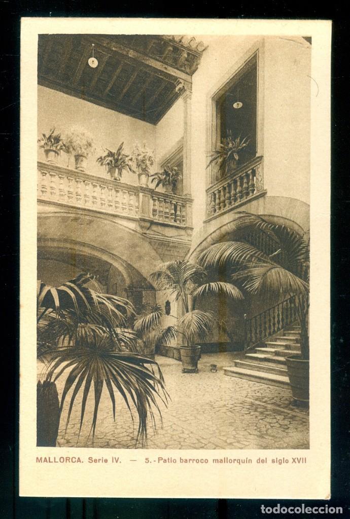 NUMULITE P0210 POSTAL MALLORCA SERIE IV 5 PATIO BARROCO MALLORQUÍN DEL SIGLO XVII CENTRO DE TURISMO (Postales - España - Baleares Antigua (hasta 1939))
