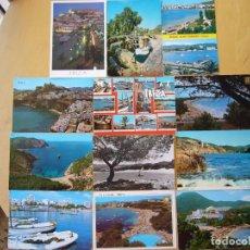 Postales: LOTE 12 POSTALES DE IBIZA. Lote 237560080